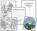 Coloring Sheets and Bible Worksheets CD